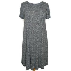 LuLaRoe Heathered Grey Carly Swing Dress